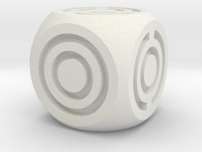 Arc Axis D6 Round Die in White Natural Versatile Plastic