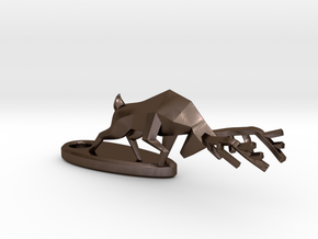 Combat Deer - Keychain in Polished Bronze Steel