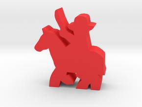Civil War Officer, sword, running horse in Red Processed Versatile Plastic