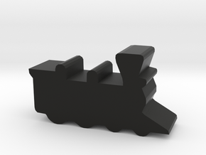 Game Piece, Train Steam Engine in Black Strong & Flexible