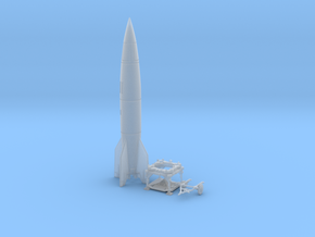 TT Gauge - V2 Rocket With Platform and Dolly in Smooth Fine Detail Plastic