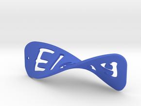 Scritta Orecchino in Blue Strong & Flexible Polished