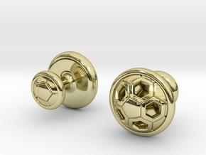 SOCCER CUFFLINKS 2 in 18k Gold Plated Brass