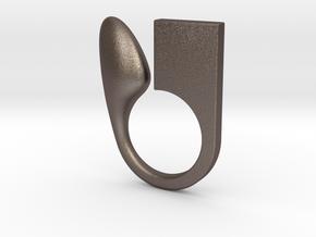 Kin  - Size L in Polished Bronzed Silver Steel