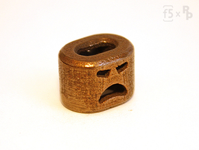 Angry Bob the FlatBead in Polished Bronze Steel