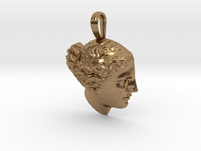 Venus de Milo pendant in Natural Brass