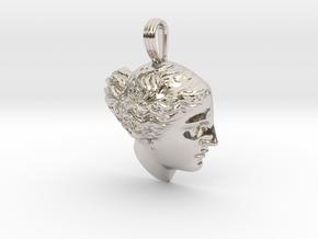 Venus de Milo pendant in Rhodium Plated Brass