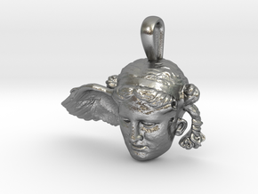 Hypnos, god of sleep, pendant in Natural Silver
