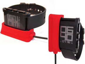 Pebble Dock - Vert + Horizontal in Black Natural Versatile Plastic