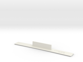 ME83-84R Curve Template HO Scale in White Natural Versatile Plastic