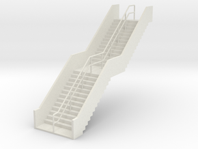 HO Stairs H62mm in White Natural Versatile Plastic