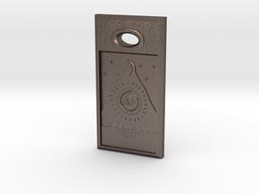 Love Stone - Arabic in Polished Bronzed Silver Steel