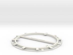RFID Bobbin 140mm in White Natural Versatile Plastic