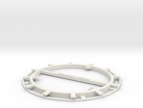 RFID Bobbin 120mm in White Natural Versatile Plastic