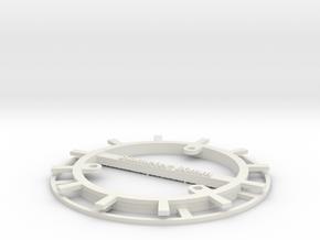 RFID Bobbin 80mm in White Natural Versatile Plastic