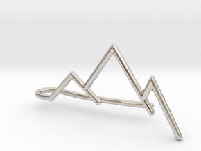 Mountain tie bar in Platinum