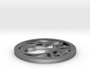 Model-39ef0f93e63045f0cd32c596ec993621 in Fine Detail Polished Silver