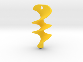 001 NECKLACE in Yellow Processed Versatile Plastic