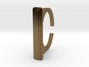 Ring 1-1 in Polished Bronze