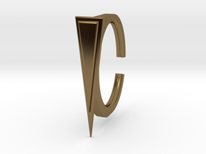 Ring 2-1 in Polished Bronze