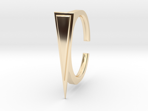 Ring 2-1 in 14k Gold Plated Brass