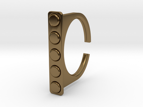 Ring 1-4 in Polished Bronze