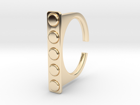 Ring 1-4 in 14k Gold Plated Brass