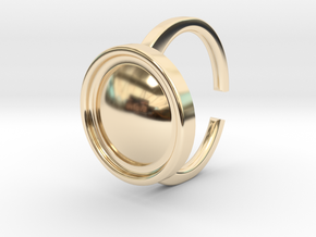 Ring 4-4 in 14k Gold Plated Brass