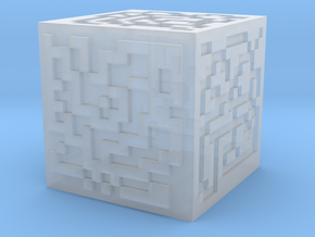 Maze cube in Smoothest Fine Detail Plastic