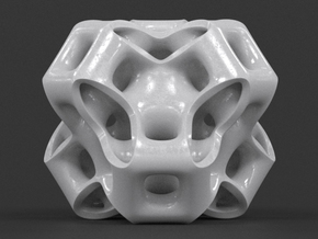 Cubic Gyroid in White Strong & Flexible Polished