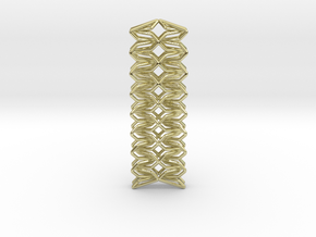 YOUNIC Fabric, Straight Pendant in 18k Gold Plated Brass