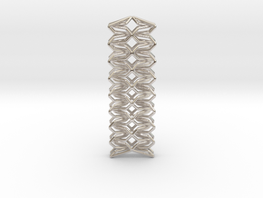 YOUNIC Fabric, Straight Pendant in Rhodium Plated Brass