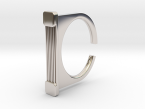 Ring 1-7 in Rhodium Plated Brass
