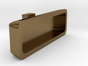 1/10 Scale rear view mirror Billet Alum. type in Polished Bronze