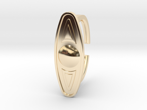 Ring 5-6 in 14k Gold Plated Brass