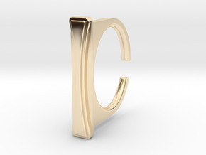 Ring 1-8 in 14k Gold Plated Brass