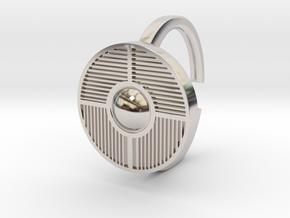Ring 4-6 in Rhodium Plated Brass