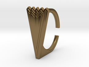 Ring 5.-9STL in Polished Bronze