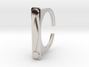 Ring 1-9 in Rhodium Plated Brass