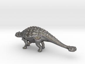 Replica Dinosaurs Ankylosaurus Full Color  in Polished Nickel Steel
