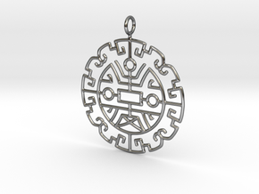 Chinese lucky pattern in Fine Detail Polished Silver