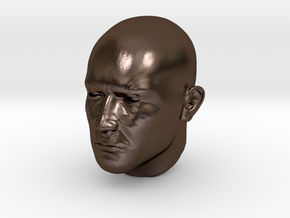1/4 scale Highly detailed head figure Tete visage  in Polished Bronze Steel