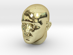 1/6 scale Highly detailed head figure Tete visage  in 18k Gold Plated Brass