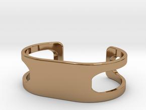 Bracelet, size 3, embossed - 60x31 in Polished Brass