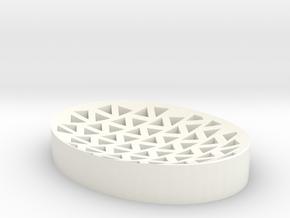 Soap Dish in White Processed Versatile Plastic