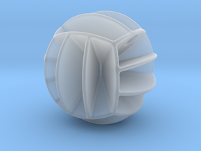 DRAW pendant - volleyball style 1 in Smooth Fine Detail Plastic