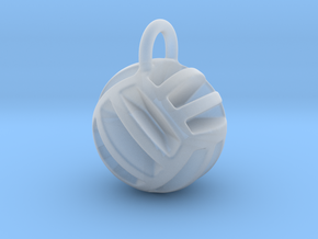 DRAW pendant - volleyball style 2 in Smooth Fine Detail Plastic