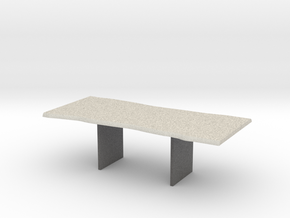 Wood Slab Table - 001 1:12 scale in Full Color Sandstone