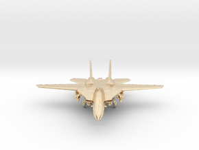 F14 grumman Jet in 14k Gold Plated Brass