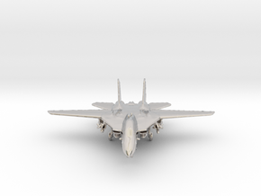 F14 grumman Jet in Rhodium Plated Brass
